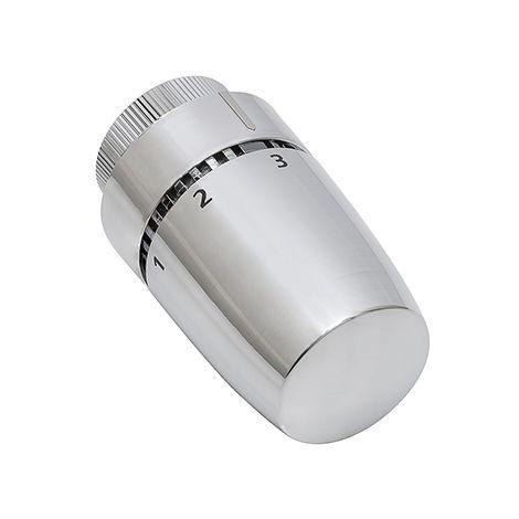 cabezal de radiador termostático diseño color cromado