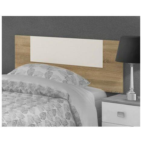 Cabezal Juvenil color Blanco y Cambrian, Cabecero Cama 110 cms ref-02a