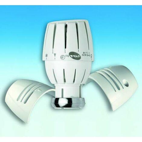 Cabezal termostático con bloqueo de temperatura Pettinaroli 107LOD | Blanco