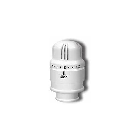 Cabezal termostático para válvulas termostáticas Far 1828 | Blanco