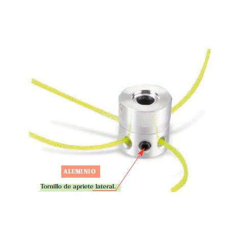 Cabezal universal multihilo profesional aluminio tornillo lateral