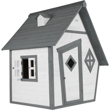 Cabin Playhouse: Maisonnette pour enfants, fenêtres intégrées et bois très résistant