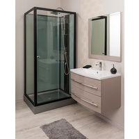 Cabina 100x80 SIN HIDROMASAJE ASTORIA Dimensiones : 100x80X225 cm - Aqua +