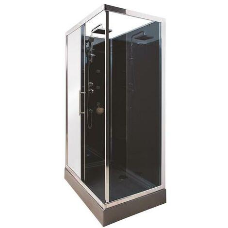 Cabina 120x80 con hidromasaje DELLINE Dimensiones : 120x80X220 cm - Aqua +