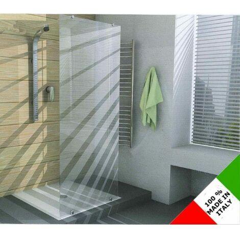 Box Doccia Vetro Temperato.Cabina Box Doccia Con Anta Fissa In Vetro Temperato