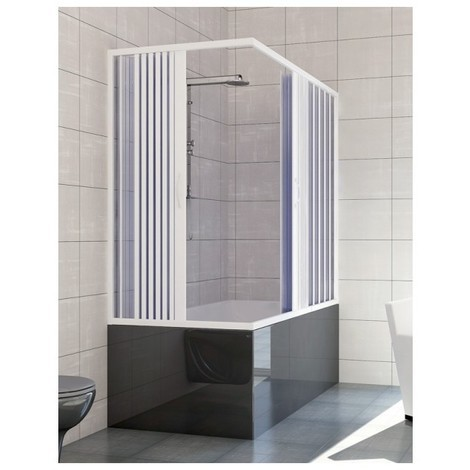 Vasca Con Box Doccia Dimensioni.Cabina Box Doccia In Pvc Per Vasca Angolare Apertura Centrale Misure 70 160 170 Altezza 150cm