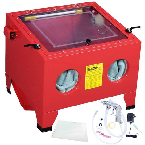 Cabina chorreadora de arena de banco 90 litros