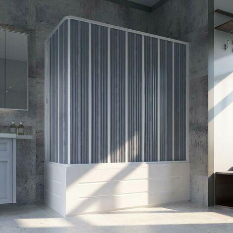Cabina de Bañera 70x170 cm en PVC plegable con Apertura Lateral H 150 cm color Blanco mod. Flex