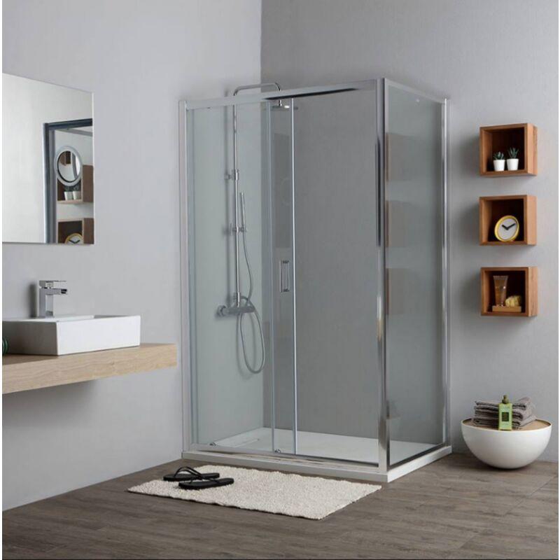 cuadrado Cabina de ducha 80 x 80 x 190 cm sin plato de ducha 8 mm cristal Venta