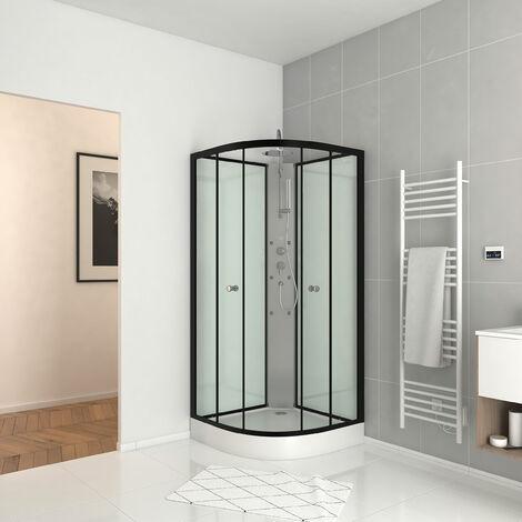 Cabina de ducha 85x85x225cm 1/4 de círculo - ZEENY