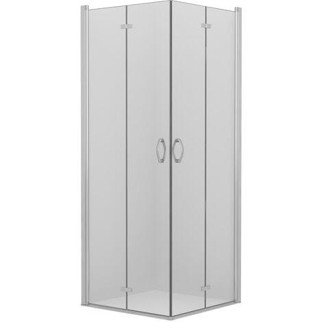 Cabina de ducha con puertas de plegado doble ESG 75x75x185 cm