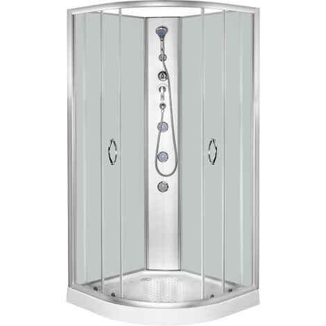 Cabina de ducha de 1/4 de circulo en color blanco de 90 x 90 x 197 cm DP-1902