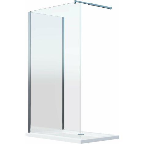 Cabina de ducha de 8 mm doble vidrio angular reversible H. 200 - 78-80 + 118.5-120.5 cm