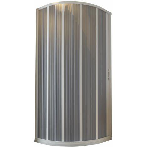 Cabina de ducha en PVC mod. Flex Semicircular Apertura Lateral