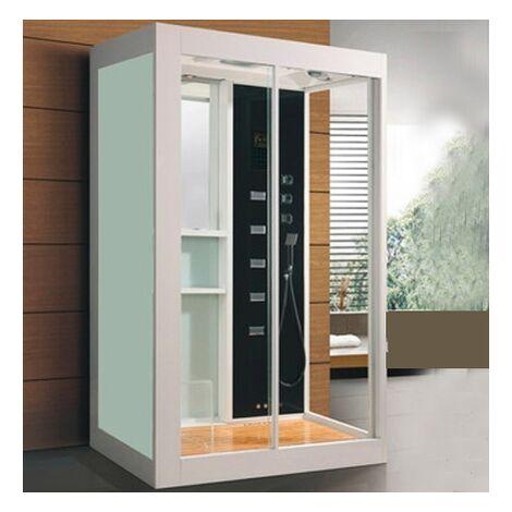 Cabina de Hidromasaje con sauna ECO-DE® IMPERIAL BLANCA 120x90x220 Cm