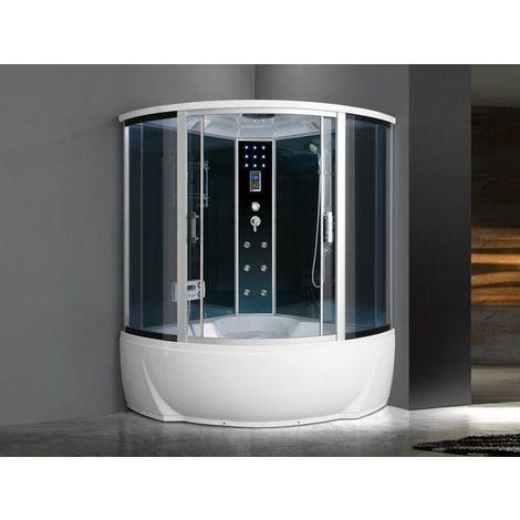 Cabina Multifunzione Sauna Bagno Turco.Cabina Idromassaggio 150x150 6 Getti Con Vasca Box Doccia