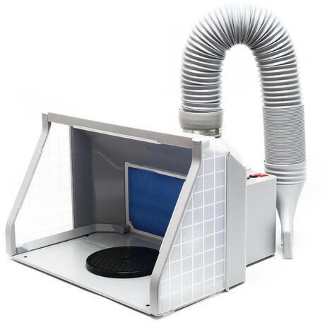 """main image of """"Cabine Aspiration 9m³/min LED Double ventilation Réglable Anti brouillard Interrupteur 2 niveaux"""""""