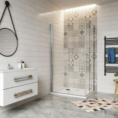 Cabine de douche 100x76cm avec un receveur plusieurs modèles