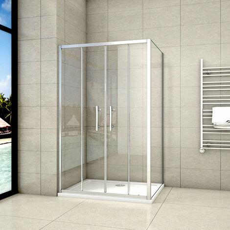 Cabine de douche 140x80cm avec un receveur plusieurs modèles