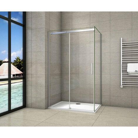Cabine de douche 140x80cm avec un receveur plusieurs modéles