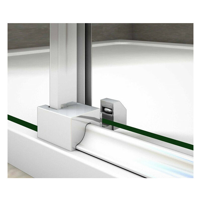 Porte de douche coulissante 150x90x195cm cabine de douche verre anticalcaire paroi de douche