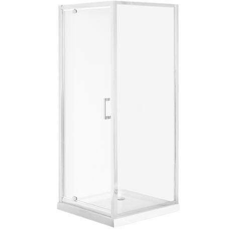 Cabine de douche 70 x 70 x 185 cm argentée DARLI