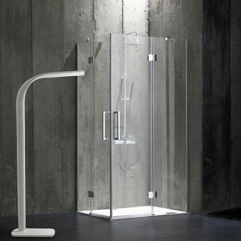 CABINE DE DOUCHE 80X120 EN VERRE 6 MM SANS STRUCTURE LONDON