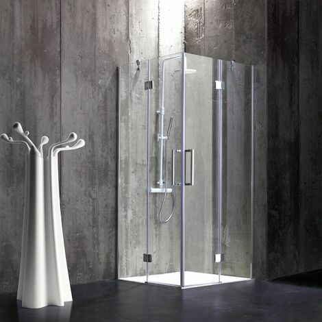 CABINE DE DOUCHE 80X80 EN VERRE 6 MM SANS STRUCTURE LONDON