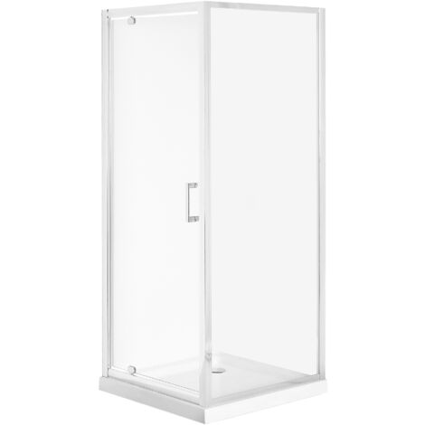 Cabine de douche 90 x 90 x 185 cm argentée DARLI