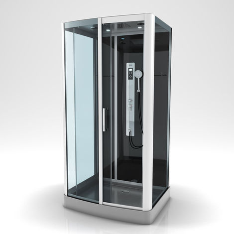 Cabine de douche à multi jets Gris