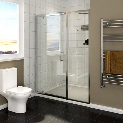 Cabine de douche à porte battante avec panneau supplémentaire