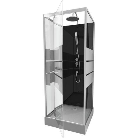Cabine de douche avec verre sérigraphié