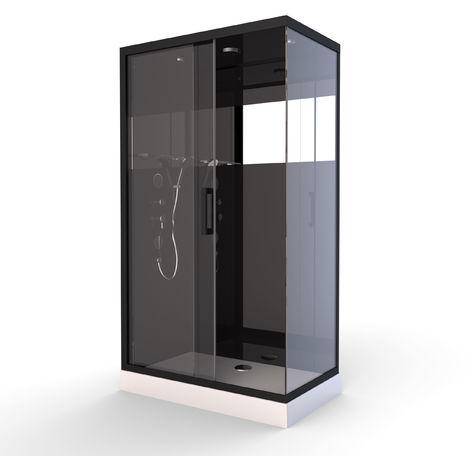 Cabine de Douche Black Mirror 2 Rectangle Noir