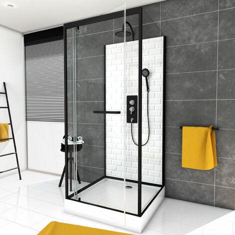 Cabine de douche carrée à motif carreaux de métro - UNDERGROUND SQUARE