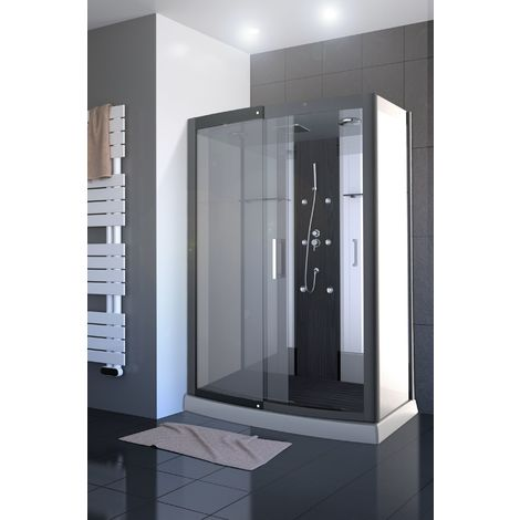 Cabine de douche CLEAR XXL rectangle 140x85x225cm