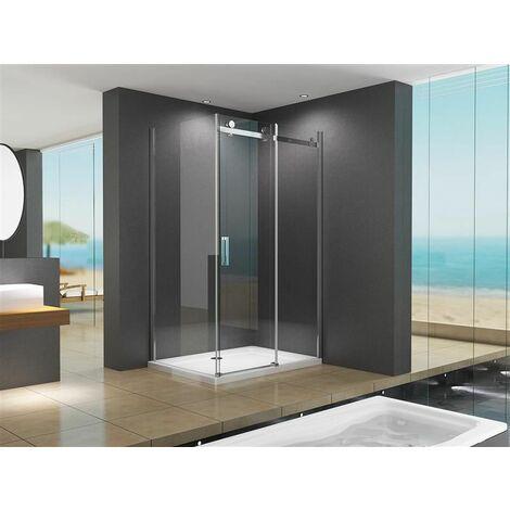 Cabine de douche d'angle Ela 120x80x195cm sans bac à douche