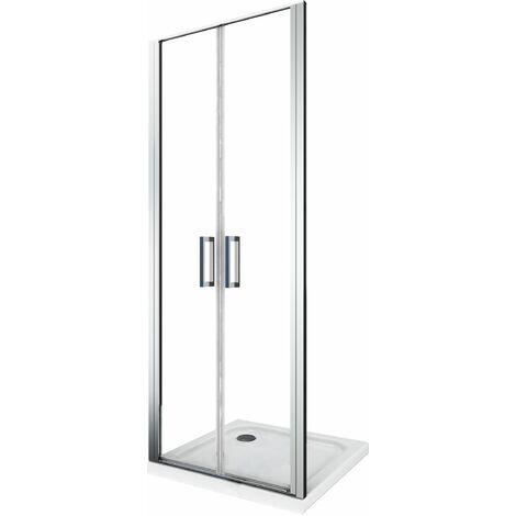 Cabine de douche de 6 millimètres overture à battant type saloon H.190 avec overture dans et hors