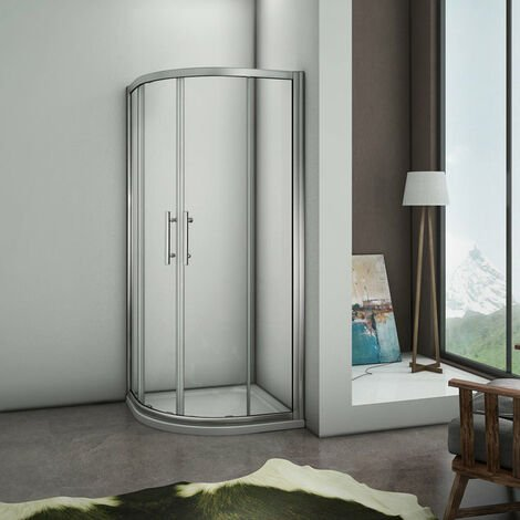 Cabine de douche ¼ de rond 80x80cm avec un receveur plusieurs modèles