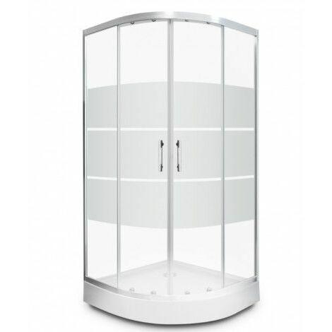 Cabine de douche DINIO 80x80x195 cm - Blanc