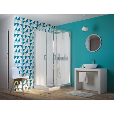 Cabine de douche EDEN+ faible hauteur - Portes coulissantes - 100x80cm
