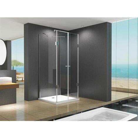 Cabine de douche en U forme cabine de douche / douche Emma 120 x 80 x195 cm sans bac à douche