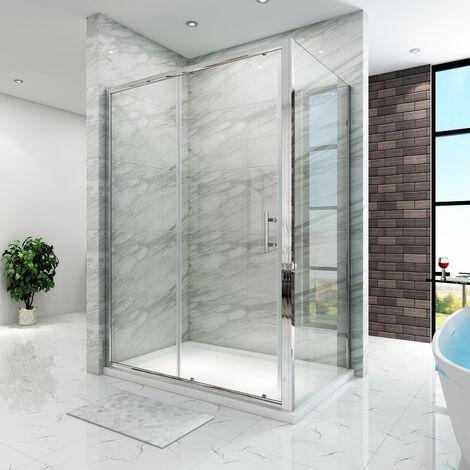 Cabine de douche extensible et coulissante verre trempé livré rapide SIRHONA