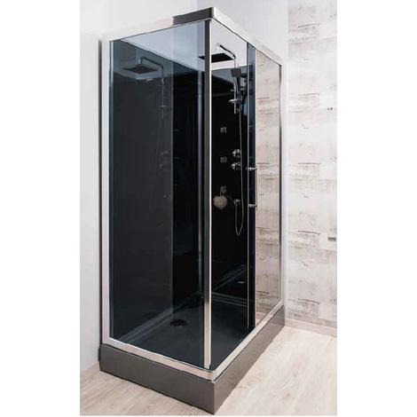 Cabine de douche Hydro 80 x 120 cm Sankai, accès d'angle