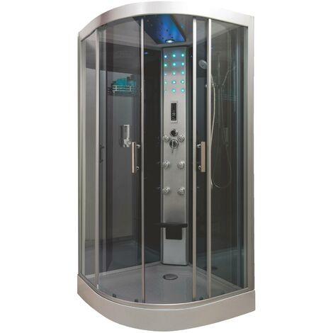 Cabine de douche HYDRO SKADI GRISE 100X100 SANS SILICONE