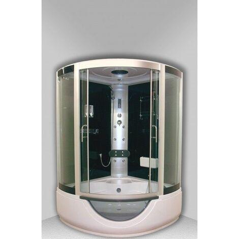 Cabine de douche Hydromassante FARO Noire - Quart de cercle 136x136 - Noir