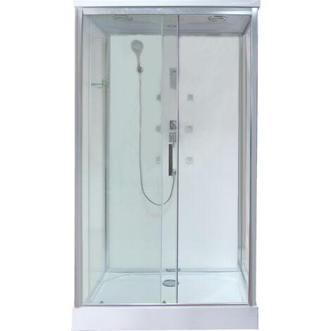 Cabine de douche HYNA - Sans silicone - 120x80cm - transparent - En kit