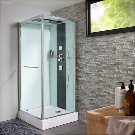 Cabine de douche intégrale carré 90x90 cm