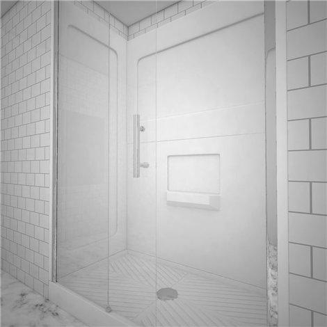 Cabine de douche integrale en kit a monter porte coulissante securit atlanta - Monter porte coulissante ...