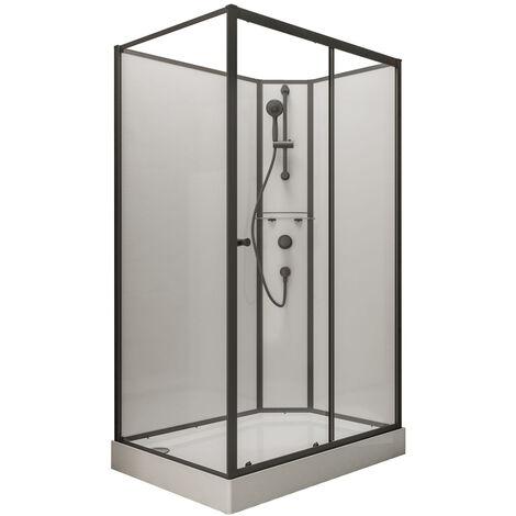 Cabine de douche int�grale avec porte coulissante, verre 5 mm, cabine de douche compl�te Tahiti, Schulte, dim�nsion et ouverture aux choix