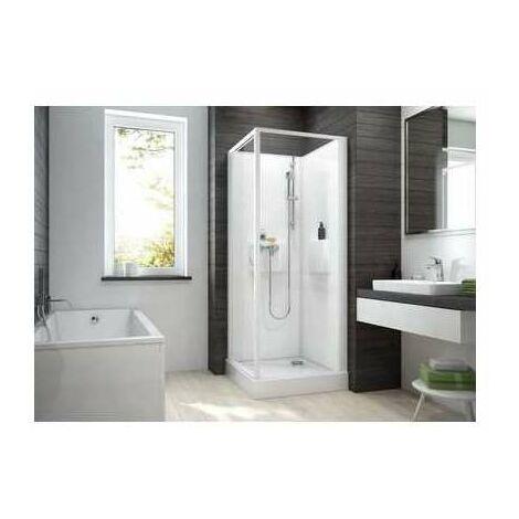 Cabine de douche Izi Box2 - Carrée - Porte pivotante